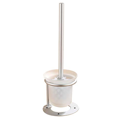 BAM - Brosses WC et supports Porte-Brosse De Toilette, Brosse De Toilette Porte-Brosse De Toilette Ensemble De Brosse Amovible Porte-Brosse Espace De Rangement en Aluminium Porte-Brosse De Toilette