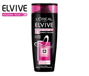 Elvive Arginina Resist X3 Shampoo e Balsamo 2 in 1 Rinforzante 400 ml Capelli Fragili e Danneggiati