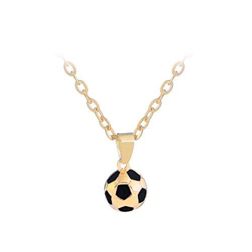 Fußball Braun Perlen Halskette - Goodluvk28  -