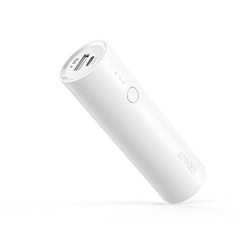 Anker PowerCore 5000mAh Externer Akku Powerbank Batterie Extra Kompakt Slim Handy Ladegerät mit Power IQ für iPhone 7 7+ 6s 6 Plus SE, iPad, Samsung Galaxy und Weitere Smartphone (Weiß)