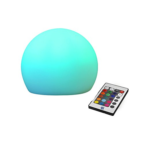 TSSS 5 Zoll RGBW 4-Farbe LED 16-Modi Bunt LED-Nachtlicht Fernbedienung Beleuchtung-Kugel Kinderzimmer Schlafzimmer Romantische Tischlampe Dekor Licht Camping Zeltlampe USB Wiederaufladbar