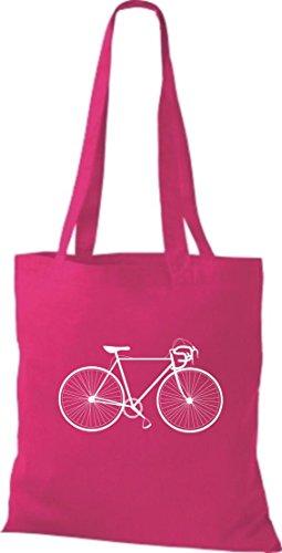 Stoffbeutel Fahrrad bike Rad Bonanza BMX Kult Baumwolltasche, Beutel , Farbe pink