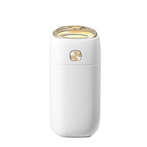 LHFING Aromatherapie Humidifier Aroma Diffuser 260ml Luftbefeuchter Ultraschall Öl Diffuser Vernebler Raumbefeuchter LED Duftlampe für Schlafzimmer Babyzimmer Büro SPA Yoga, White