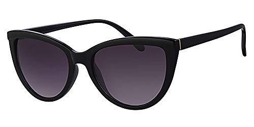 Retro Katzen Eye schwarz Rahmen Sonnenbrille, mit gratis gelb Hals Kordel, Metall-Scharnier
