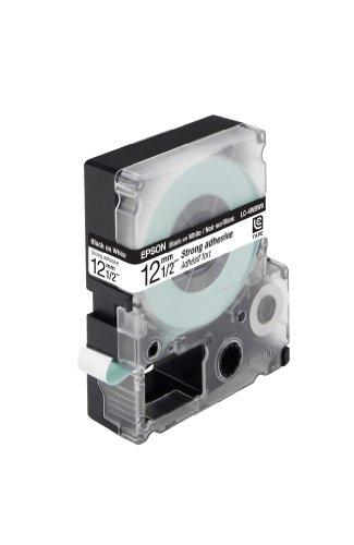 EPSON Schriftband LC4WBW9 selbstklebend schwarz auf weiss 12mm fuer Label Works 900P, LW300,LW400