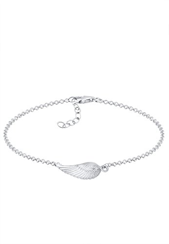 Elli Damen Schmuck Armband Gliederarmband Flügel Engelsflügel Feder Boho Bohemian Silber 925 Länge 18 cm