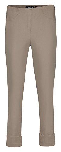 Bella von Robell Slim Fit 7/8 Schlupfhose Stretchhose Damen Hosen #Bella 09versch.Farben (46, Olive(86)) Bella Capri