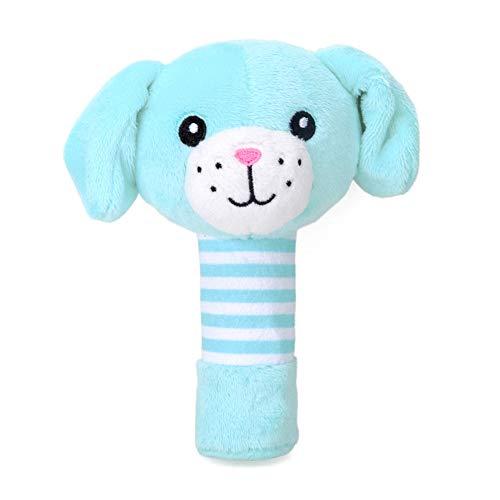 LCLrute Shaker Greifen Und Spin Rassel Kleinkinder scherzt tierische weiche Plüsch Baby Handglocken pädagogisches Puppe Spielzeug (Blau) -