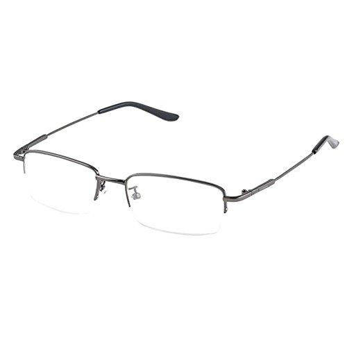 Hzjundasi Hälfte Erinnerung Metall Rahmen Kurzsichtigkeit Myopia Brillen Kurzsichtig Brille...