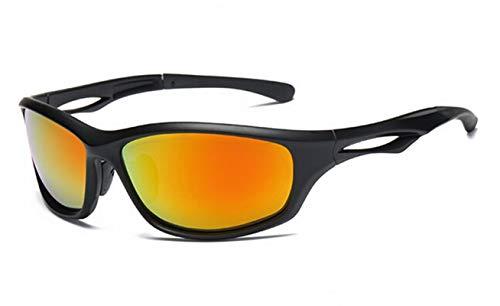 Beydodo Schutzbrille für Brillenträger Winddichte Brille Sport Sonnenbrille Nachtsichtbrille für Brillenträger Schwarz Rot