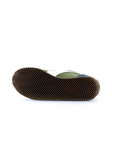 Diadora Equipe Stone Wash 12, Scarpe Low-Top Unisex Adulto Bianco/Verde