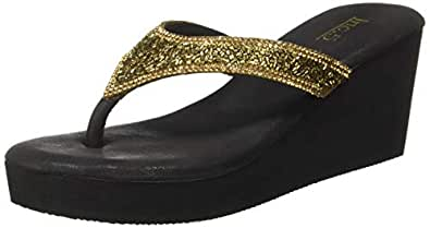 Inc.5 Women's Ant Fashion Sandals-3 UK/India (36 EU) (5 US) (6848ANT Gold)