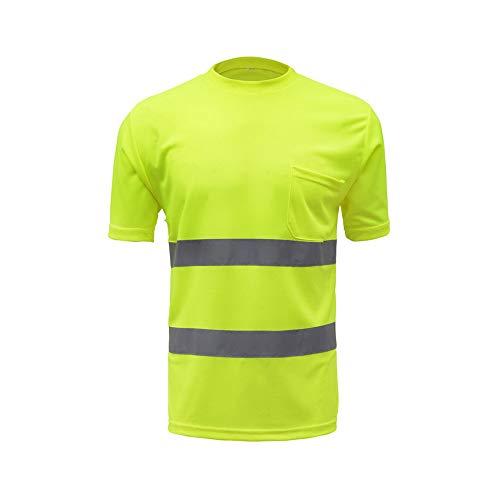 Festnight camicie da lavoro riflettenti t-shirt da lavoro di sicurezza alta visibilità traspirante leggero abbigliamento da lavoro