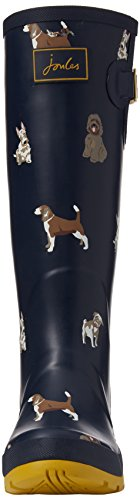 Tom Joule Damen Wellyprint Gummistiefel, Grau Blau (French Navy Fido Dog)