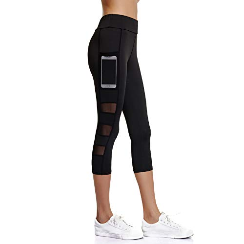 64955683f20f2 Joyshaper 3/4 Length Leggings for Women with Pockets Cropped Gym Capri Trousers  Yoga Pants