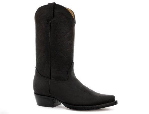 Männer Cowboy Stiefel 13 Größe Schwarze (Grinders Louisiana Herren Cowboystiefel, Schwarz, Größe 46)