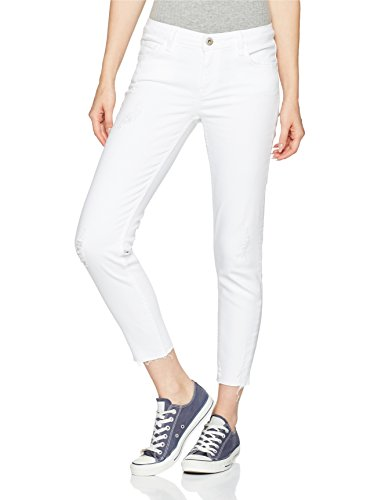 Cross Jeans Damen Gigi Skinny Jeans, Weiß (White Destroyed 009), W26 -