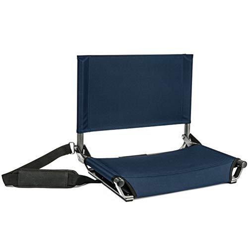 Cascade Mountain Tech-tragbar breit Stadion Sitze mit Schultergurt, SS-AL-NB-W, Marineblau -