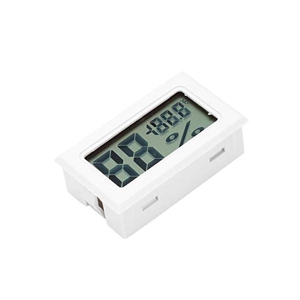 RoadRoma Mini LCD Digital termómetro higrómetro medidor de Temperatura de Humedad Interior (Blanco) 1