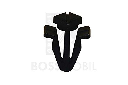 10x ORIGINAL BOSSMOBIL BEFESTIGUNGS CLIP KLEMMEN HALTER KÜLERGRILL GRAU KUNSTOFF 01553-03831 #NEU# 8 x X 18 X 6 mm Menge: 100 Stück
