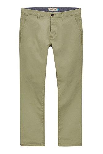 next Hommes Coupe Slim Pantalon Chino Stretch Vert