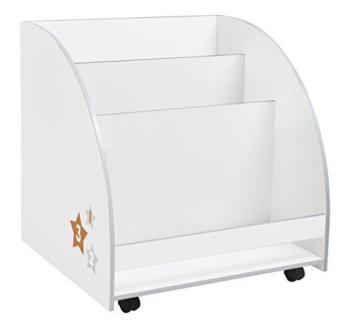 Roba 89962 D180 Porta Libri con Rotelle, Bianco
