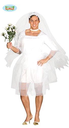 KOSTÜM - TRAVESTIE BRAUT - Größe 52-54 (L), Transvestit männliche Braut Hochzeit Hochzeitsfeier