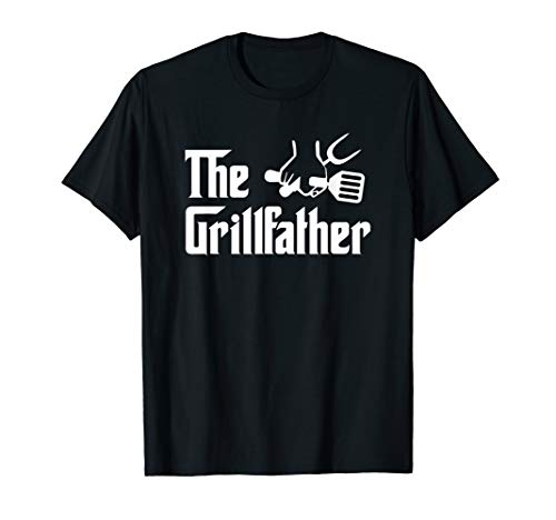 The Grillfather BBQ Grill Barbecue Cooking Cook Daddy Papa T-Shirt -