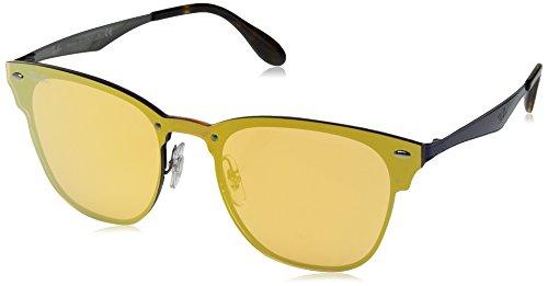 Ray-Ban RAYBAN Unisex-Erwachsene Sonnenbrille 3576n, Brushed Blue/Darkorangemirrorgold, 41