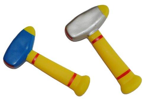 alles-meine.de GmbH 1 Stück: Gummihammer für Baby´s Hammer weicher Babyhammer Gummi weich Babyspielzeug Hammerspielzeug