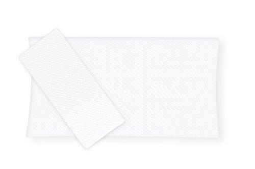 Orthopädisches Nackenstützkissen, 40 x 80 x 15 cm,Inkl. 2 Premium Doppeltuch Bezüge, Punktelastischer Visco-Gelschaum, Made in Germany - Kopfkissen, Nackenkissen, Kissen