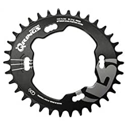 Rotor Q X 4 Q de Ring, MTB QX1, 34z, Círculos 96 mm x 4 Shimano xt8000, Single Speed, negro, Negro, 34