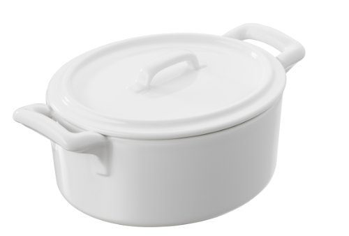 Revol Belle Cuisine - Cocotte (incluye tapa, 135 x 122 x 80 mm), color blanco