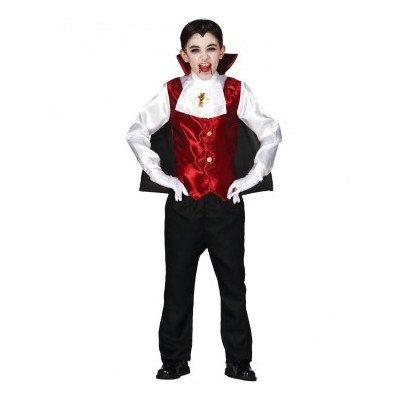 Guirca Dracula Kostüm für Kinder Gr. 98/104, Größe:98/104