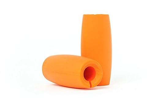 Adaptateur Poignées IronGrips susbstitutant une barre épaisse pour améliorer la force de préhension et gagner en masse musculaire et puissance
