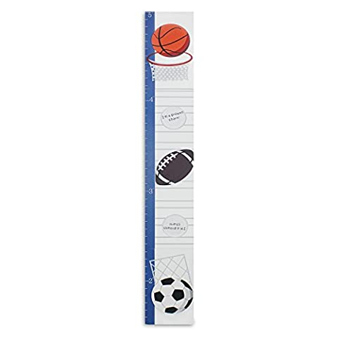 Hoddmimis Home & Living Kids Growth Height Ruler MDF with Picture Frames (Balls)