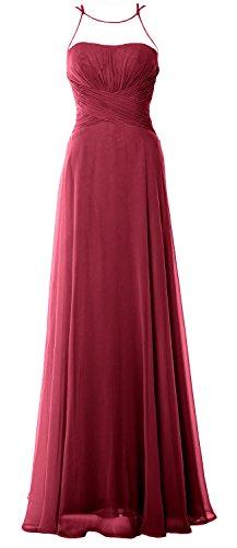 MACloth - Robe - Trapèze - Sans Manche - Femme rouge vin