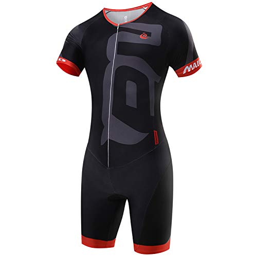 Malciklo fietskleding set, korte mouw Jumpsuit voor heren, wielerkleding set ademende jerseys, sneldrogend, lycra (s)