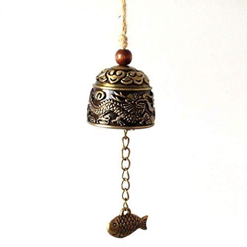 Kleine Glocke (DDLBiZ Chinesische Drachen Feng-Shui-Glocke Segen Glück Glück Hängen Windspiel)