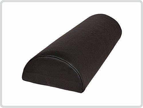 Halbrolle Nackenrolle Knierolle Massage mit Kunstlederbezug 40 x 15 x 7,5 cm, schwarz -