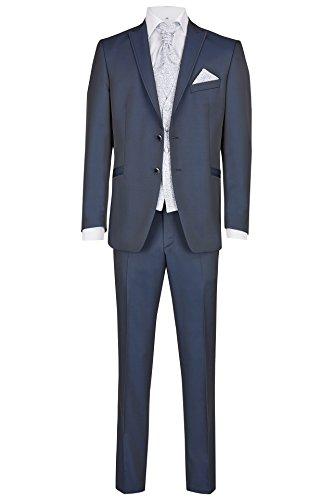 Wilvorst Hochzeitsanzug Alan, mitternachtsblauem Brillantpiqué, Slimline Größe 52