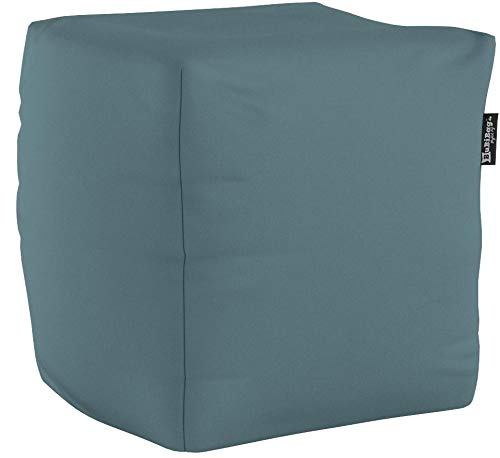 BuBiBag Sitzsack Würfel 45x45x45cm mit Füllung Cube Sitzwürfel Sitzkissen Bodenkissen Kissen Sessel BeanBag (anthrazit)