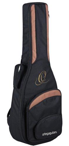 Ortega Guitars ONB12 hochwertige Konzertgitarren Tasche 1/2 Größe mit Rucksackgarnitur schwarz
