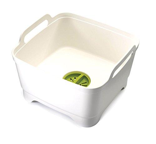 Joseph Joseph - Wash&Drain - Bac à vaisselle, Bassine Plastique Evier - Blanc/Vert