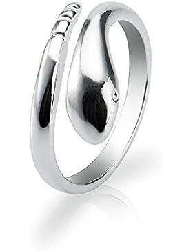 ELEGANCE PARISIENNE Modischer Ring Silber 925 Schlange Verstellbar Für Frauen Damen Mädchen