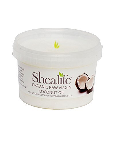 by SHEA LIFE Organic Raw Virgin Coconut Oil, for Moisturing & Treating Dry Skin & Conditioning Damaged Hair Supplied Direct by Shea Life Skincare 500gram Tub