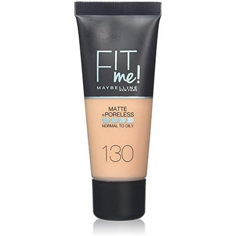 Maybelline Fit Me Foundation 130 Buff Beige - base de maquillaje (Mujeres, Líquido, Botella, Buff Beige, Piel normal, Natural)