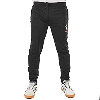 wrooker Men's Track Pant for Gym|Yoga|Sports|Jogging|Walking|Running cauterized (Black, Medium, 38)