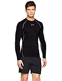 Under Armour UA HG Armour LS, Maglia A Maniche Lunghe Uomo, Nero (Black/Steel 001), L