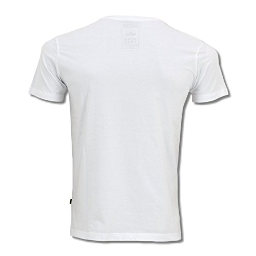 Alpha Industries Herren T-Shirt Basic T white - schmaler, figurbetonter Schnitt White